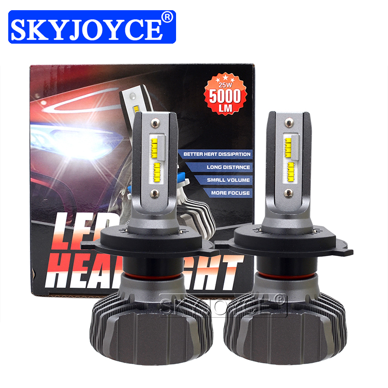 SKYJOYCE H4 LED Headlight Bulb H7 LED H1 H11 9005 HB3 9006 HB4 ZES Chips 50W 10000LM 6500K Car Light Auto LED Headlamp Bulbs 12V (5)