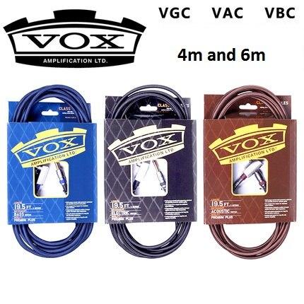 Vox Class A 4m/6m Professional Acoustic Guitar Electric Guitar  Bass Guitar Cable vox vcc90 vintage coiled guitar cable 9 meter bass cable electric guitar cable 9m