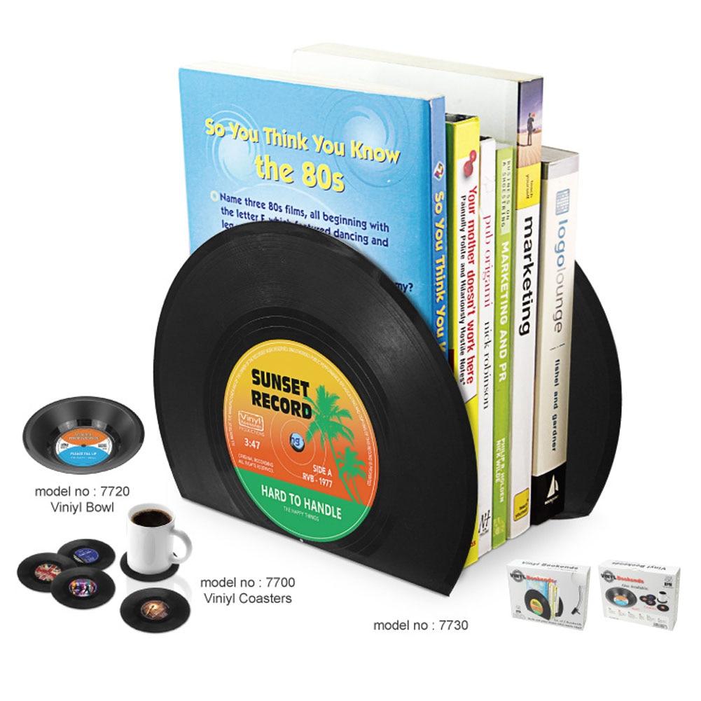 Vinyl Record Book Shelves Rack Paper Magazine Holder Multifunction Storage Hanger Home Office Desktop Book Box Plastic Bookshelf