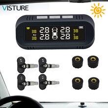 Новый Visture система контроля давления в шинах на солнечных батареях лобовое стекло автомобильных шин давление сигнализации мониторы системы шин интеллектуальный мониторинг D04W D04N