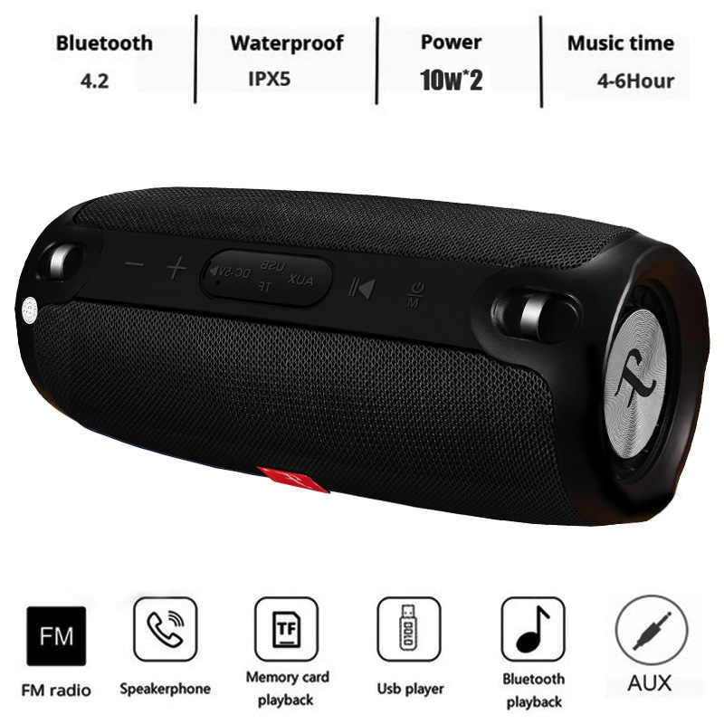 20 W Wireless Bluetooth Speaker Portable Bluetooth Speaker Kolom Bluetooth Soundbar Musik Player Kotak dengan FM Radio Komputer Subwoofer