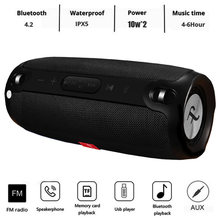 20W Wireless Bluetooth Speaker Portable Column Speaker Bluetooth Soundbar Music Player Boom Box with FM Radio Computer Subwoofer(China)