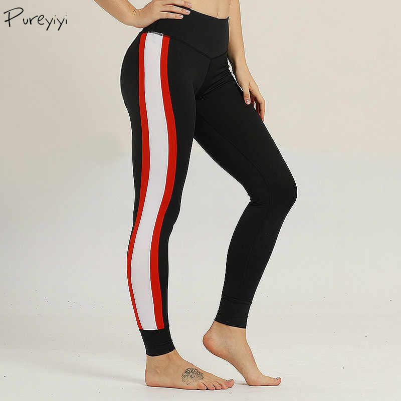 Wanita Olahraga Pakaian Sisi Putih Garis Garis Pinggang Tinggi Elastis Yoga Legging Menjalankan Jogging Gym Kebugaran Celana Olahraga Aliexpress