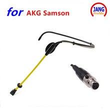 Top Sport – Microphone omnidirectionnel à condensateur, étanche, pour AKG Samson Shure, etc, Mini XLR 3 broches 4 broches