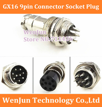 NEW GX16 GX16-9  9Pin 16mm Male & Female Wire Panel Connector Circular Aviation Connector Socket Plug