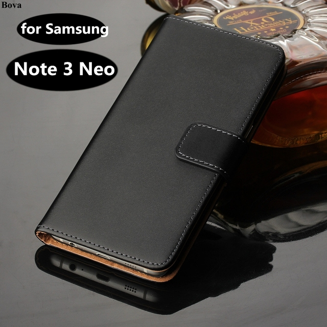 buy online 685b2 de83e US $4.98 33% OFF|Note3 Neo wallet Leather case For Samsung Galaxy Note 3  Neo lite case Luxury Flip Cover For Samsung N7505 card holder holster GG-in  ...