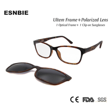 New Nerd Glasses Frame Women Men with Clip On Sunglasses Polarized Sun Lens Driving Glass Ultem Spectacle