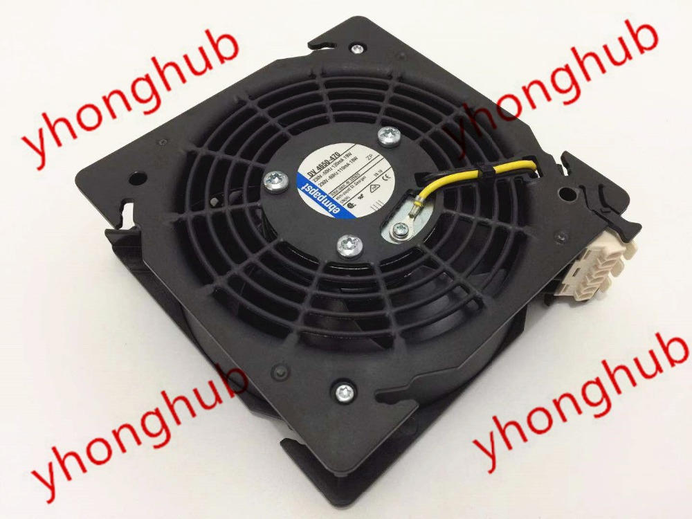 ebm-papst DV 4650-470 Server Square Fan AC 230V 50/60Hz 3-Wire ebm papst w2g110 ap27 09 dc 48v 6w 3 wire 3 pin connector 120x120x38mm server square fan