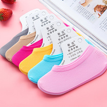 Warm comfortable cotton bamboo fiber girl women s boat socks ankle low female invisible color girl