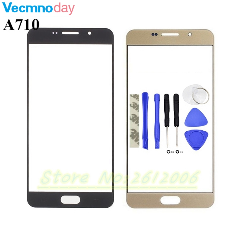 Vecmnoday Touch Screen Panel Replacement For Samsung Galaxy A7 2016 A710 A710F LCD Front Outer Glass Cover Lens With Logo+ Tools