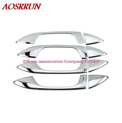Door Handle Chrome Molding Catch Cover 9p For 2014 2015 Kia All New Soul