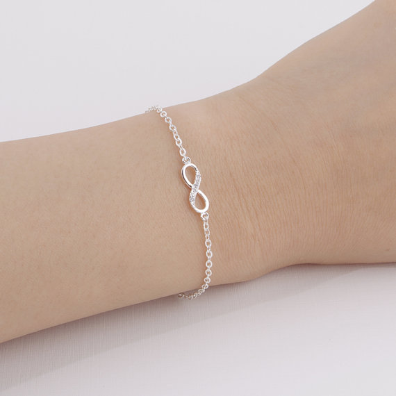 Shuangshuo 2017 New Fashion Infinity Bracelet for Women with Crystal Stones Bracelet Infinity Number 8 Chain Bracelets bileklik 10