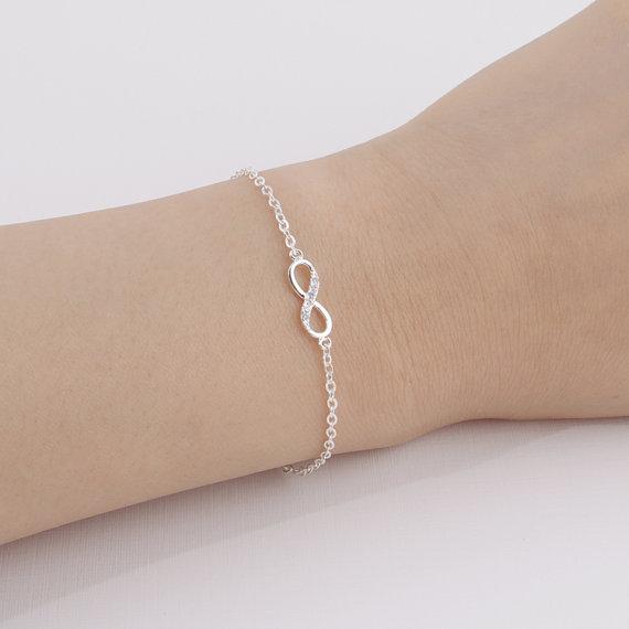 Shuangshuo 2017 New Fashion Infinity Bracelet for Women with Crystal Stones Bracelet Infinity Number 8 Chain Bracelets bileklik 10