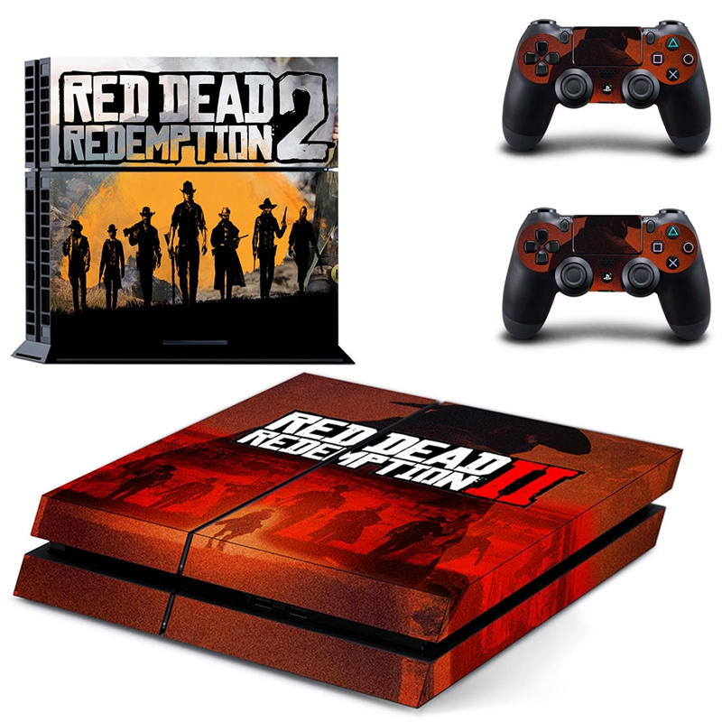 Image 4 - HOMEREALLY Stickers PS4 Skin Game Red Dead Redemption 2 Sticker For Sony Playstation4 Console and Controller Skin Ps4 Accessory-in Stickers from Consumer Electronics