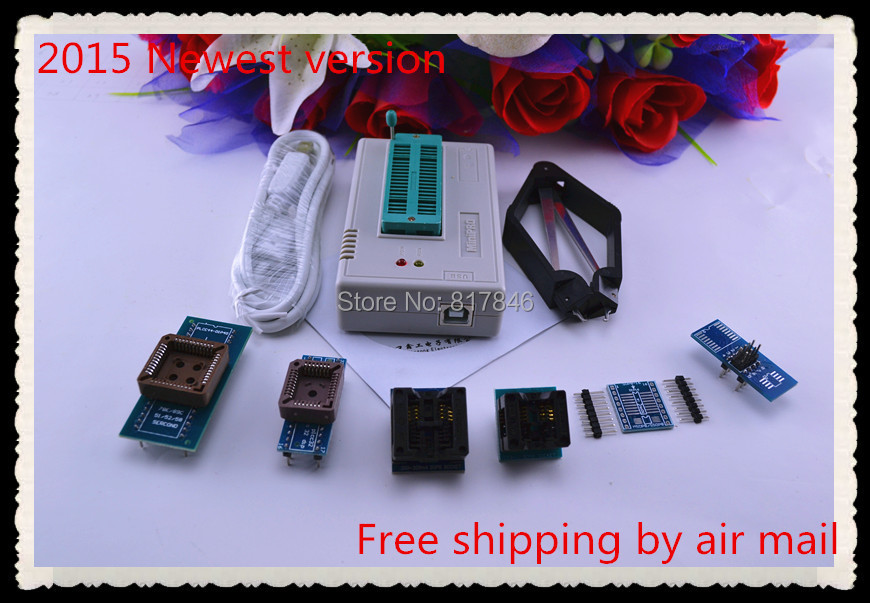 все цены на Free Shipping XGECU V7.05 MiniPro TL866II Plus TL866A Programmer 24 93 25 nand flash USB Universal Bios ECU Programmer+7adapters онлайн