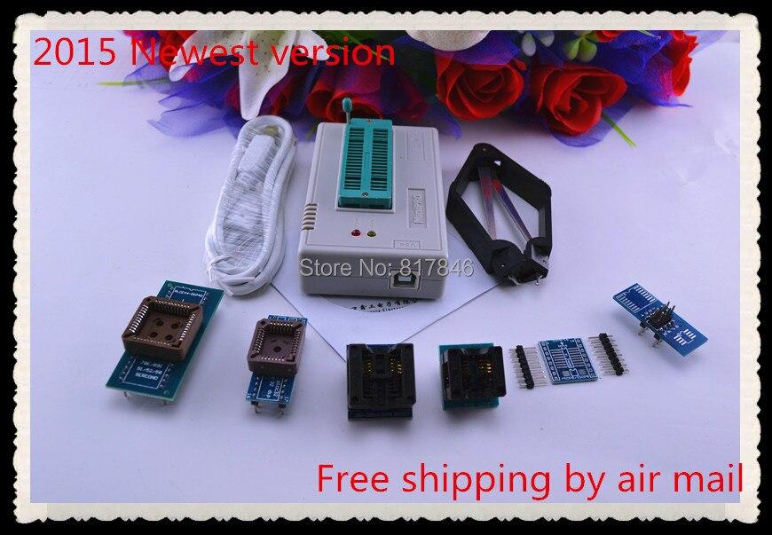 Free Shipping XGECU V7.32 MiniPro TL866II Plus TL866A Programmer 24 93 25 nand flash USB Universal Bios ECU Programmer+7adapters цена