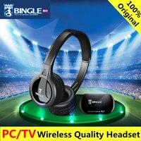 Bingle B616 אוזניות רדיו FM טלוויזיה יחס FM תכליתי אוזניות סטריאו אלחוטי עם מיקרופון עבור טלפונים טלוויזיה למחשב MP3