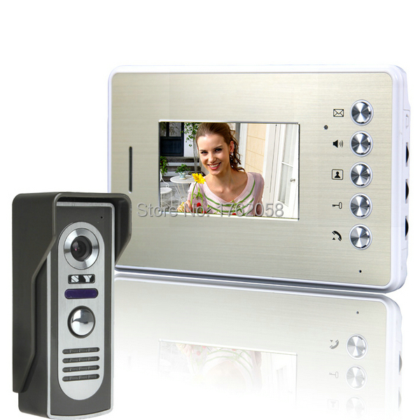 Brand New 4.3 Inch Wired Doorbell Door Phone Intercom System Peephole Viewer Night Vision Video - Green Lake Electronics Co., Ltd. store