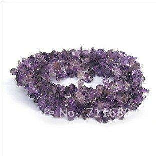 Amethyst DIY Charm Wholesale Beads Necklaces,Gravel Jewelry Chain Necklaces-Free shipping