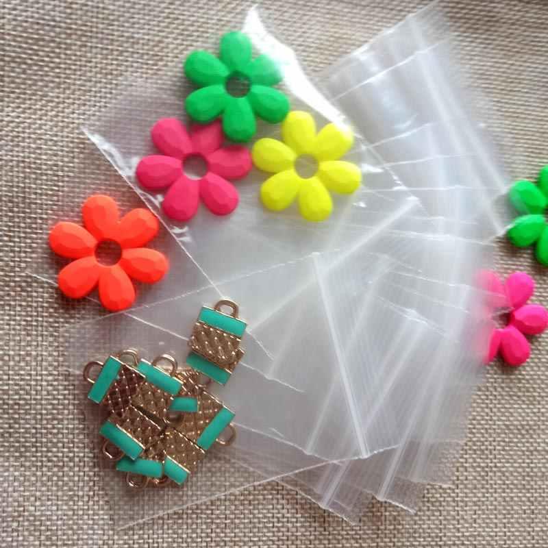 1000 pcs 7x10 cm branco saco zip lock pe ziplock sacos transparentes sacos de plástico transparentes para o pano/presentes/saco de Jóias Embalagens de Exibição