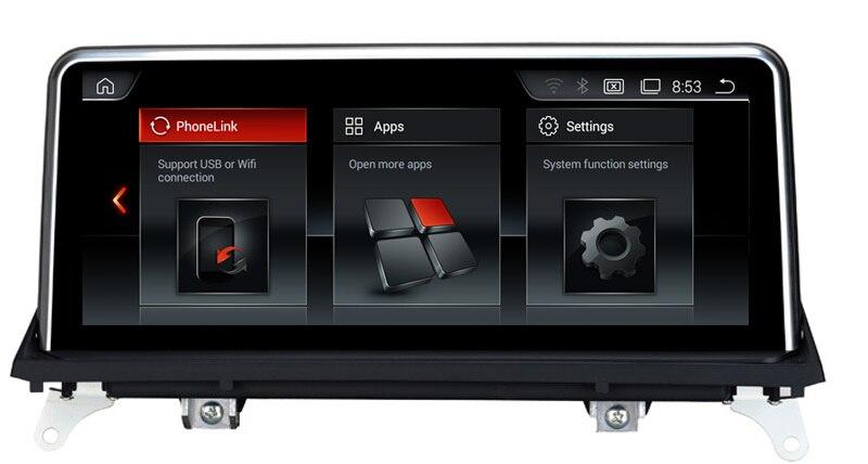 10.25 2G RAM Android 7.1 Car Raido GPS for BMW X5 E70 (2007 2013)/BMW X6 E71(2007 2014) smart Car Multimedia Player BT wifi