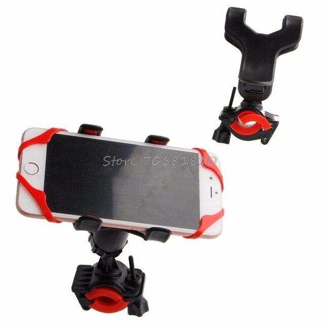 אופנועים אופניים 360 תואר MTB אופני כידון הר מחזיק לטלפון סלולרי GPS שחור-R179 זרוק משלוח