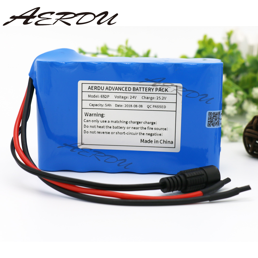 AERDU 6S2P 24V 5Ah 25.2V Li-Ion battery pack lithium batteries for electric motor bicycle ebike scooter toys drill etc with BMS 7s3p 24v 10 5ah 29 4v ncr18650ga li ion battery pack lithium batteries for small electric motor bicycle ebike scooter with bms