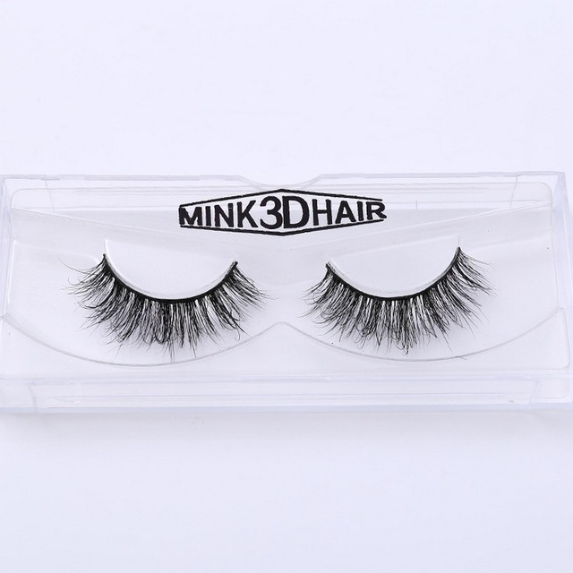 3D Mink Eyelash Real Mink Handmade Crossing Lashes Individual Strip Thick Lash Fake Eyelashes A02 5