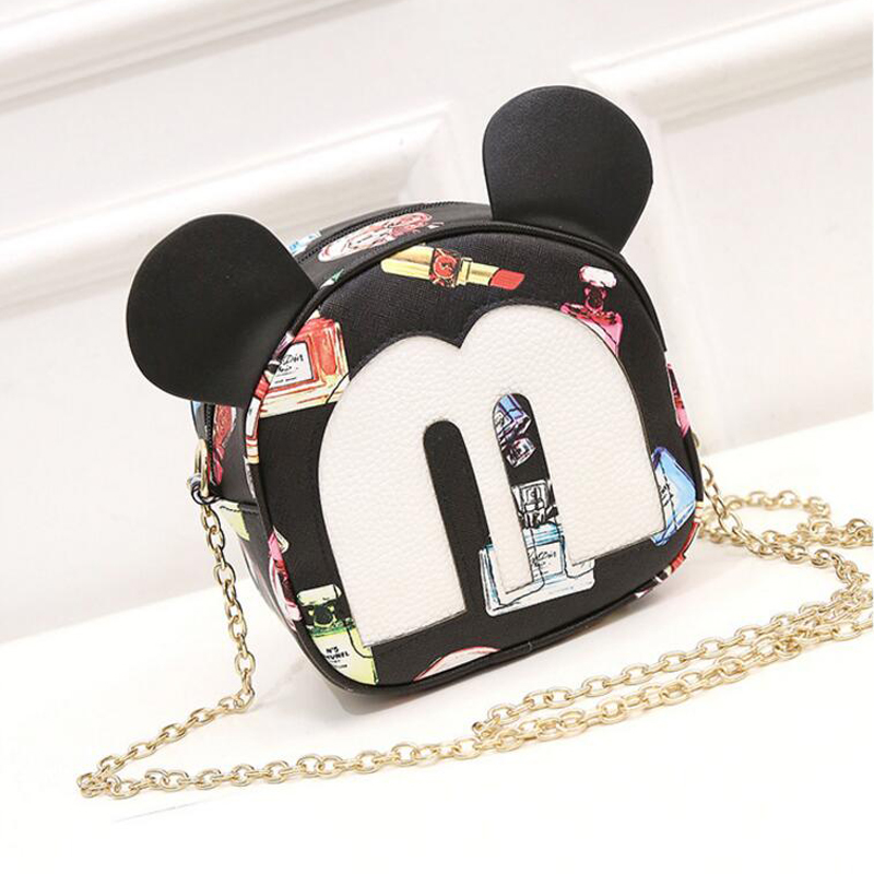 QZH Women Girls Small Shoulder Bags PU Leather Lady Prints Messenger Bags Zipper Cartoon Crossbody Bags For Women Handbag Gifts 2017 hot fashion women bags 3d diamond shape shoulder chain lady girl messenger small crossbody satchel evening zipper hangbags