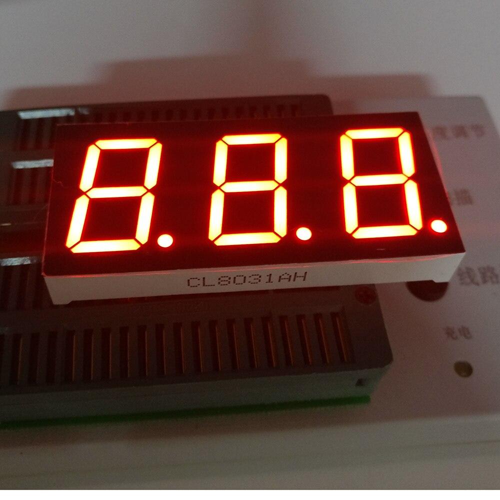 10pcs 7 segment common Cathode/Anode 3 Bit digital Tube 0.8 0.8in. Red LED Display 7 segmentos LED Digital tube 11PIN