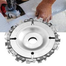 Disco de cadena para amoladora angular profesional, herramienta de corte de disco de madera para tallado y carpintería, herramienta oscilante de madera de 4 pulgadas