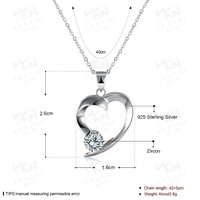 Authentic Maxi Necklace Crystal From Swarovski Collier Wholesale Fashion Jewelry 925 Sterling Silver Women Charm Name