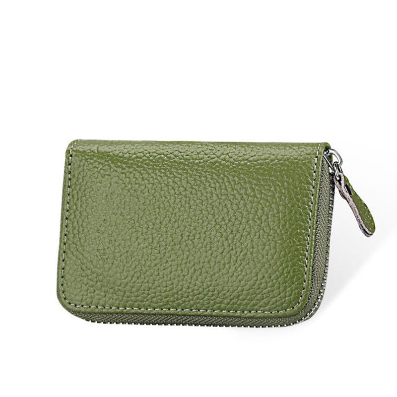 Hot Sale Genuine Leather Unisex Card Holder Wallets High Quality Female Credit Card Holders Women Multi Colors Card Holder Purse