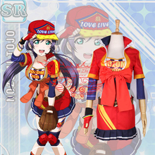 Anime clothing Love Live Nozomi Tojo Baseball Uniform Cosplay Costume Sports clothes Full Sets D