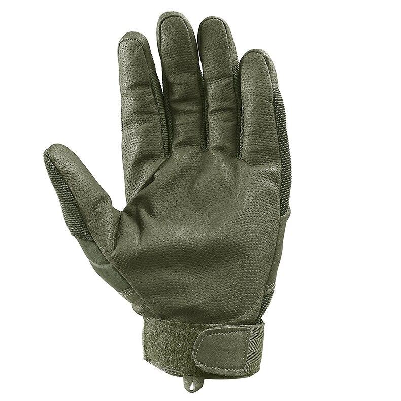 TACVASEN Military Tactical Gloves Men's Gloves Hard Shell Full Finger Gloves Airsoft Anti-slip Paintball Leather Gloves