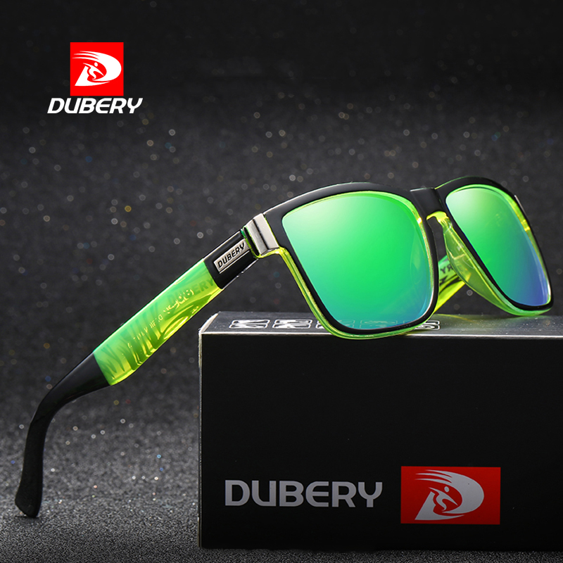DUBERY Polarized Sunglasses Brand Design Men Driver Shades Male Vintage Sun Glasses For Men Spuare Mirror Summer UV400 Oculos