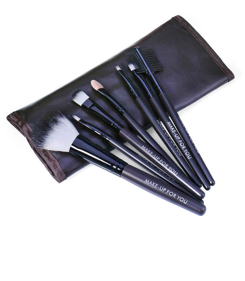 O.TWO.O Makeup Brushes Set 7pcs/lot Soft Synthetic Hair Blush Eyeshadow Lips Make Up Brush With Leather Case For Beginner Brush 19
