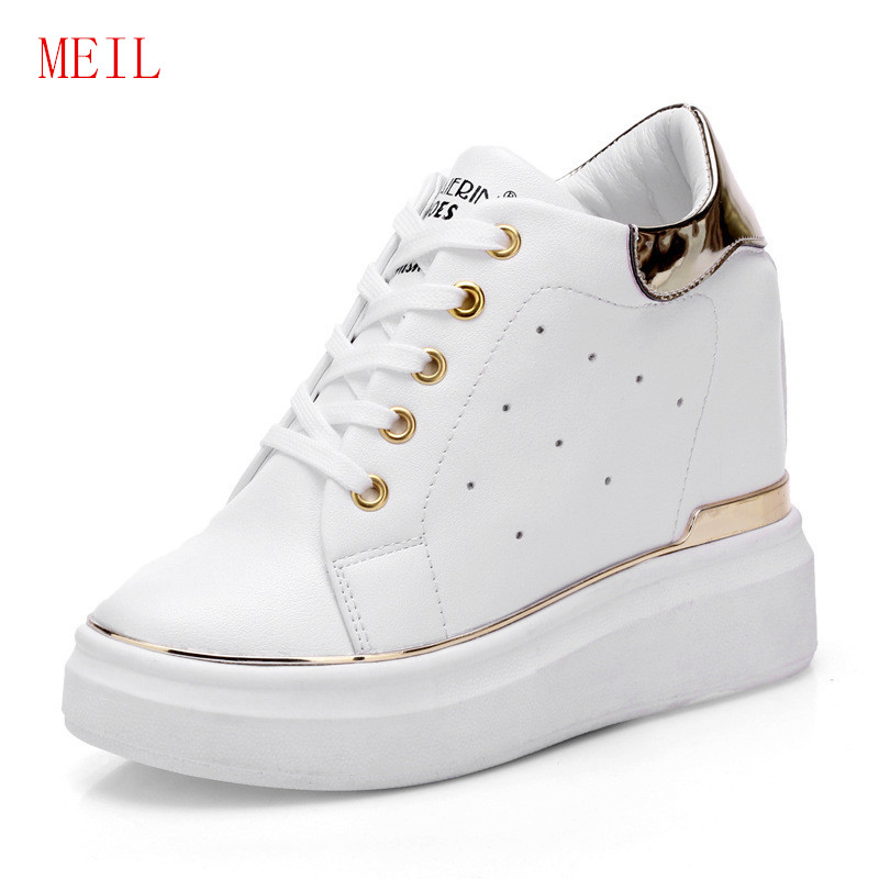 Women/'s Platform Wedge High Heel Lace Up Korean  Pumps Fashion Sneakers Shoes