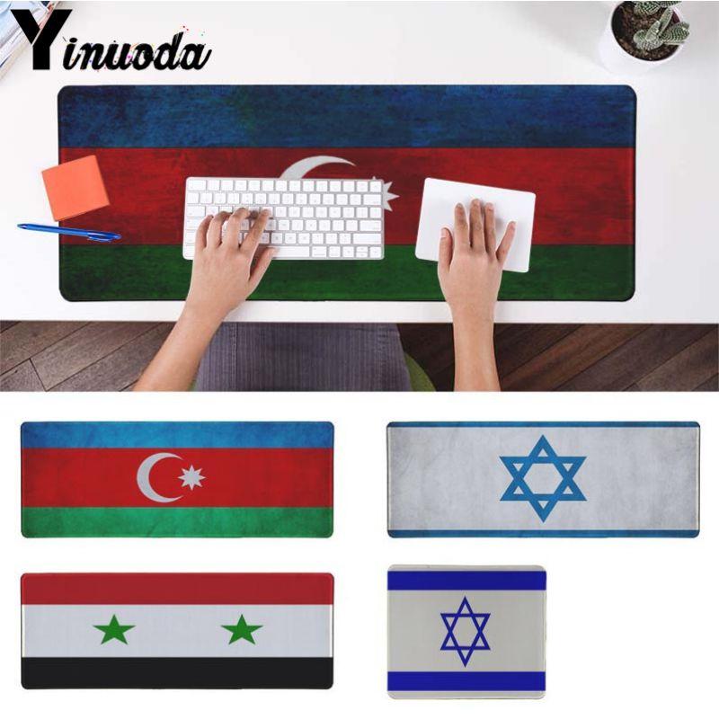 Yinuoda My Favorite azerbaijan syria israel flag Keyboard Gaming MousePads Size for 18x22cm 20x25cm 25x29cm 30x90cm 40x90cm