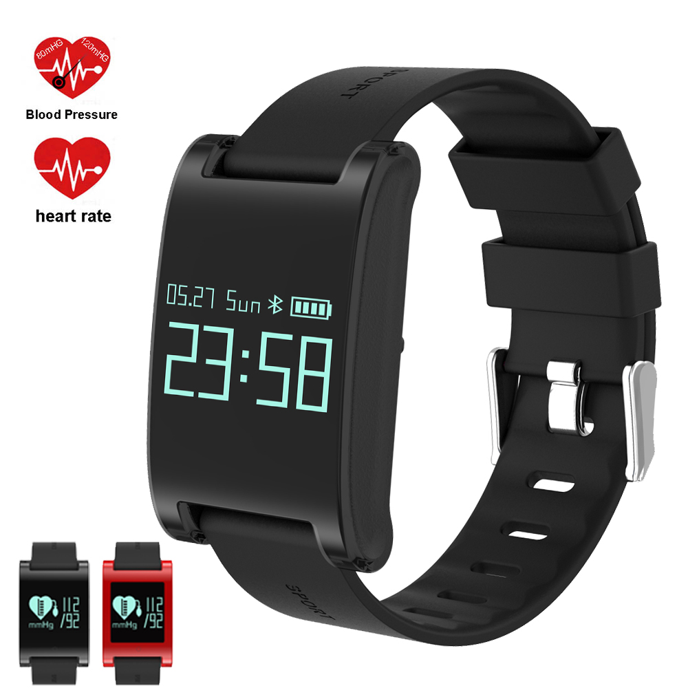Heart Rate Smart Watch Blood Pressure Monitor Sports Track Wristwatch DM68 smartwatch Waterproof Bracelet for Android iOS Phone f2 smart watch accurate heart rate