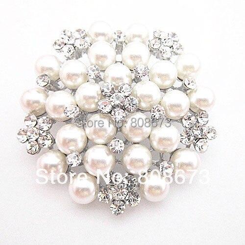 DHL FEDEX Express darmowa wysyłka tanie hurtownia dobrej jakości Faux Pearl i kryształy kwiatowy Pin broszka Wedding Party broszki w Broszki od Biżuteria i akcesoria na  Grupa 1