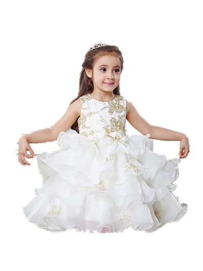 BABY WOW Flower Girl Dresses on Sale for Weddings Baby Girl Princess 1 Year Birthday Baptism