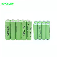 10 pcs AA 1200mAh Ni-MH Rechargeable Batteries + AAA 1800mAh