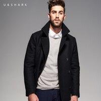 U&SHARK Winter New Wool Coat Men Woolen Jackets Men Fashion Outerwear High Quality Casual Jackets Overcoat Woolen Pea Coat Male