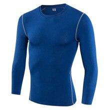 Мужская Профессиональная быстросохнущая длинная футболка для тренировок, занятий спортом, бега, йоги, сжатия, фитнеса, упражнений, одежда для футболок, футболка V1019