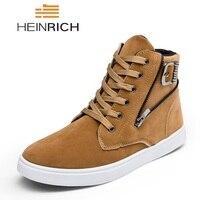HEINRICH Men Shoes 2018 Fashion Brand Men High Top Shoe Comfortable Flat Shoes Man Sneakers Tenis Masculino Adulto Herren Schuhe
