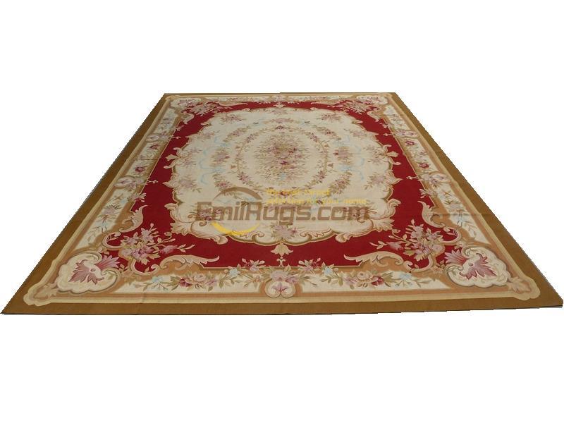 Canapé fait main couverture tapis laine ancien tapis français Aubusson Verdure tapis scène romantique