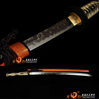Handmade Clay Tempered T10 steel Japanese Samurai Katana Sword razor sharp