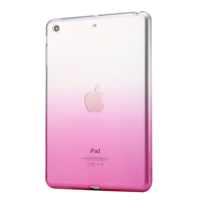 Transparent-Case Coque Tpu-Cover Clear Apple IPad Soft-Silicone Gradient-Color For Tablets