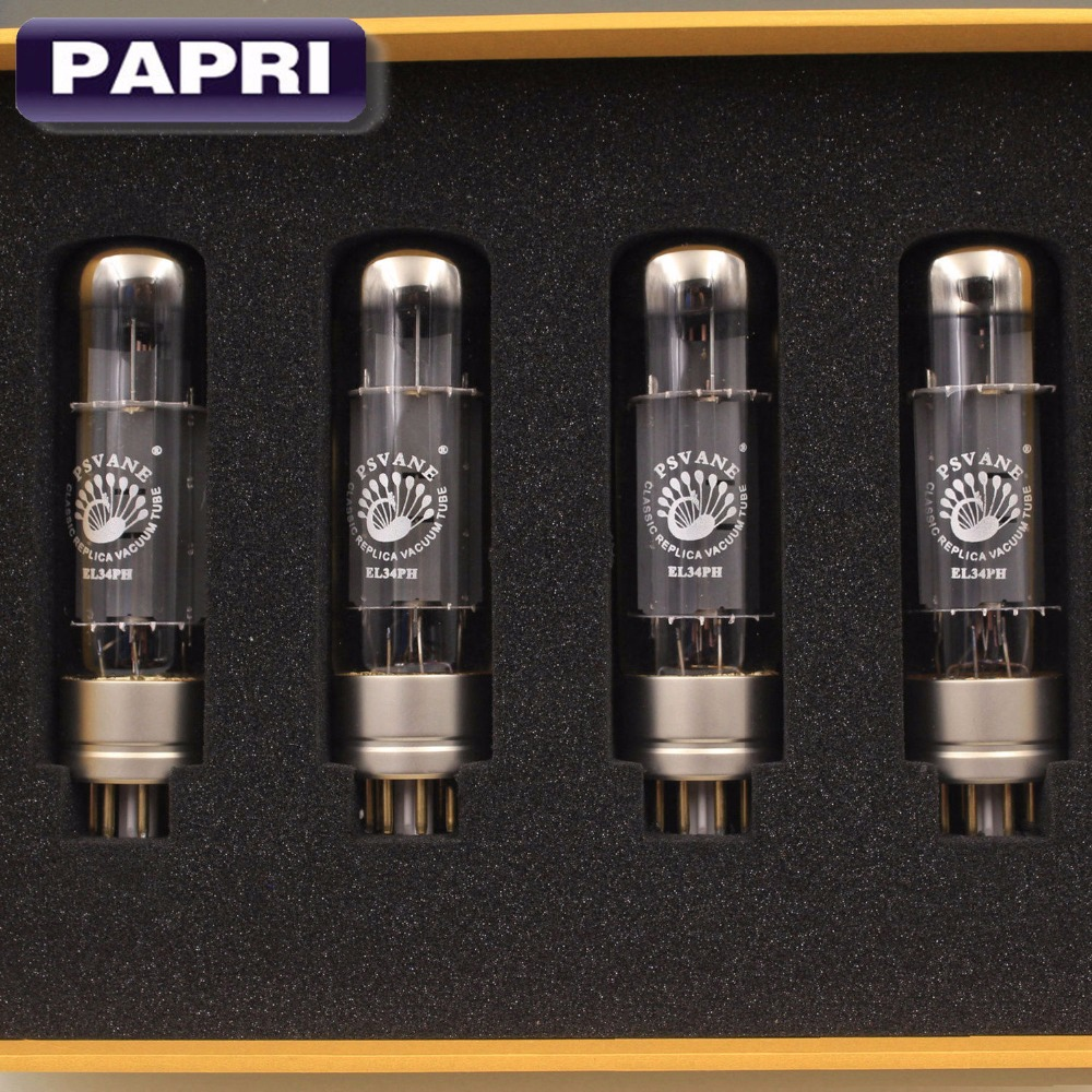 PAPRI Vacuum Tube Replacement PSVANE EL34PH Amplifier Valve Tube Preamplifier EL34 Treasure Tube Matched Pair 4PCS